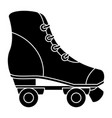 skates old isolated icon vector image vector image