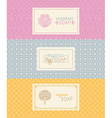Soap packaging and wrapping paper vector image