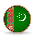 Turkmenistan Seal vector image vector image