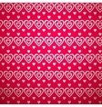 Valentine day pattern with shadow vector image