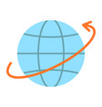 worldwide shipping flat icon logistic vector image vector image