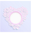 beautiful wreath of spring flowers pink daisies vector image