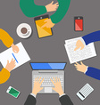 Business meeting concept top view people flat vector image