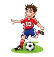 Cartoon Soccer Player vector image