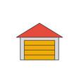 garage flat line icon vector image