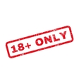 18 Plus Only Text Rubber Stamp vector image vector image