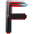 abstract font letter f vector image vector image