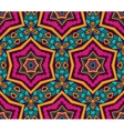 Abstract Tribal ethnic star mosaic pattern vector image vector image
