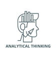 analytical thinking line icon analytical vector image vector image
