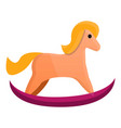 baby horse toy icon cartoon style vector image vector image