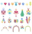 Balloons set collection vector image vector image