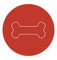 bone mascot food icon vector image vector image