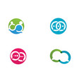 bubble chat logo vector image vector image