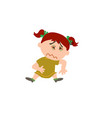 cartoon character girl sick vector image vector image