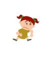 cartoon character girl sick vector image vector image