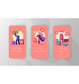 characters doing shopping mobile app page onboard vector image
