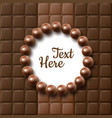 chocolate flat lay vector image