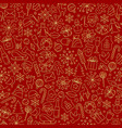 christmas seamless pattern from winter holiday vector image vector image