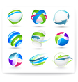 collection of color elements vector image vector image