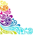 Color splash waves abstract background vector image vector image