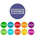 Control flat icon vector image vector image