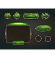 Cool game user interface assets vector image