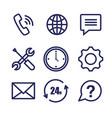 Customer service set icons