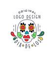 dia de los original logo design traditional vector image vector image