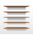 empty wooden shop or exhibition shelf retail vector image