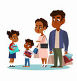 family married couple with kids vector image