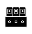 folder black icon concept vector image vector image