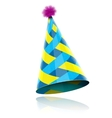 Glossy Cone-like Hat For Event Celebration vector image
