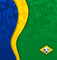 Grunge football background in Brazil flag colors vector image vector image