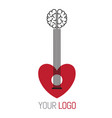guitar music concept logo vector image