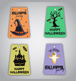 halloween tags collection vector image