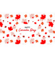 happy canada day pbanner and poster 1st july vector image vector image