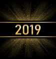 happy new year gold background golden number vector image vector image