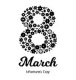 happy womens day greeting card vector image