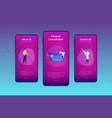 healthcare smart card app interface template vector image