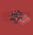 hip hop design with a turntable drawing vector image vector image