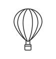 hot air balloon linear icon