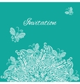 invitation Blue background vector image vector image