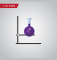 isolated test tube flat icon flask element vector image