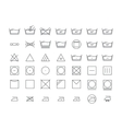Laundry Icon Thin Line Set vector image vector image