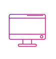 line electronic computer technology with database vector image vector image