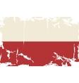 polish grunge flag vector image vector image