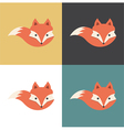 Red fox icon vector image vector image