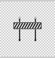 road barrier icon isolated on transparent vector image