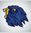 roaring lion logo mascot vector image vector image