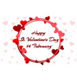 romantic wreath for saint valentine day wedding vector image vector image